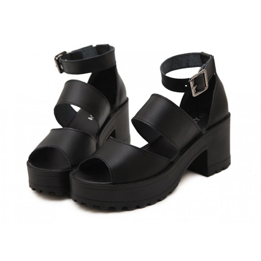 CHUNKY IS IN!: Platform sandals will give you some height with comfort MVE Shoes Women's Ankle Strap Faux Wood Platform Chunky Heel Sandal. by MVE Shoes. insole and chunky platform heel. Available in Beige, Black and Rose Bamboo Women's Double Band Platform Footbed Sandal with Ankle Strap. by Bamboo. $ $ 27 98 Prime.