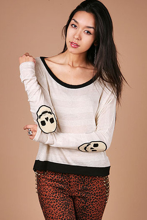SKULL PATCH SWEATER on The Hunt