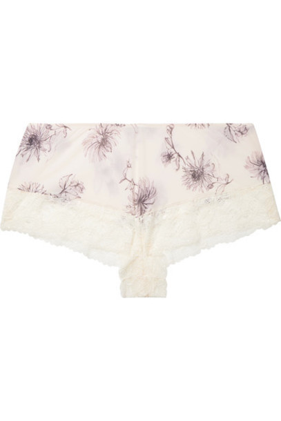 Hanro shorts pajama shorts lace cream
