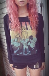 t-shirt,nirvana,rock band,clothes,rock,sweater,jumper,band,grunge,style,shirt,alternative,weed,rainbow sitting