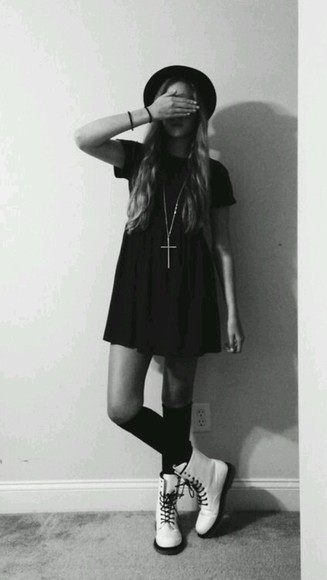hipster grunge tshirt dress hipster punk