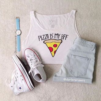 tank top jazrox crop tops food pizza pizza shirt crop tank fashion hipster kawaii glitter instagram tumblr style girly quote on it swag hippie grunge sexy summer lookbook neon cute girl cool dope pretty trendy short beach pastel urban beautiful streetwear alternative hot purple spring love tumblr girl