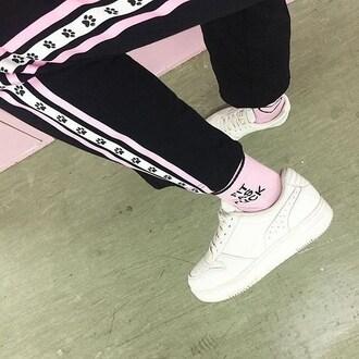 socks yeah bunny pink pastel pinkheart pastelsport