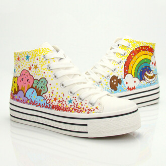shoes harajuku fairykei sugar happy sneakers canvas