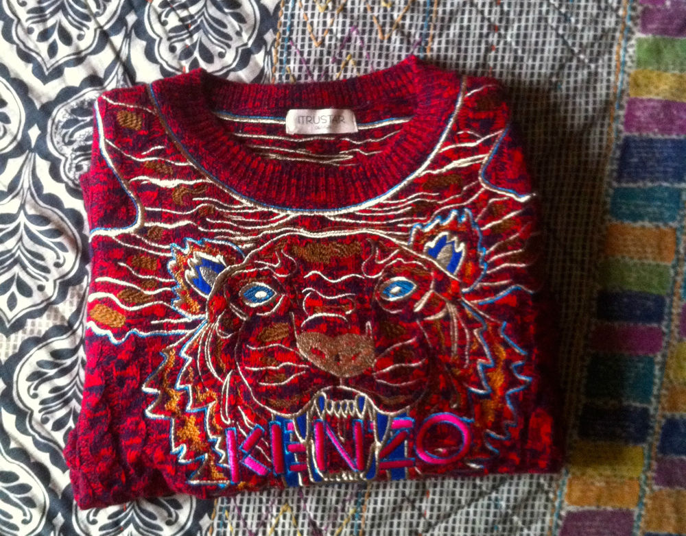 Unisex Mens Womens Kenzo Tiger Print Sweater One Size Excellent Condition | eBay