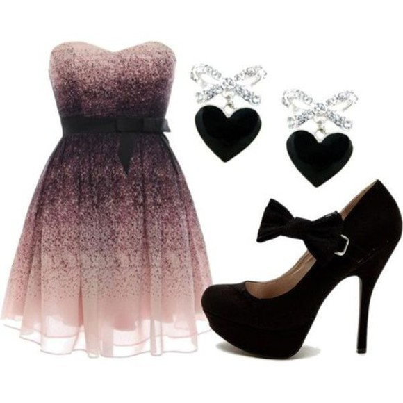 purple dress jewels cute dress dress girly