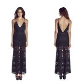 dress,black,lace,formal dress,maxi dress