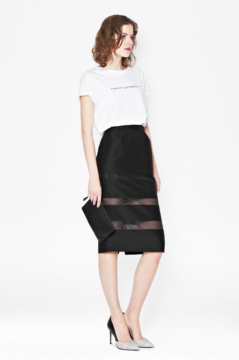 Wind Jammer Stripe Pencil Skirt - Skirts - French Connection Usa