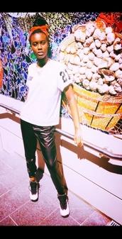 blouse,black leather pants,212,shoes,me,pants,harem pants,leather pants,black and white,hood by air,hba shirt,air jordan,jordans,nike air jordan 10 shoes,hoodbyair,vest,menswear,zip,blvck,new york city,l.a.,infinite,myungsoo,kpop,korean fashion