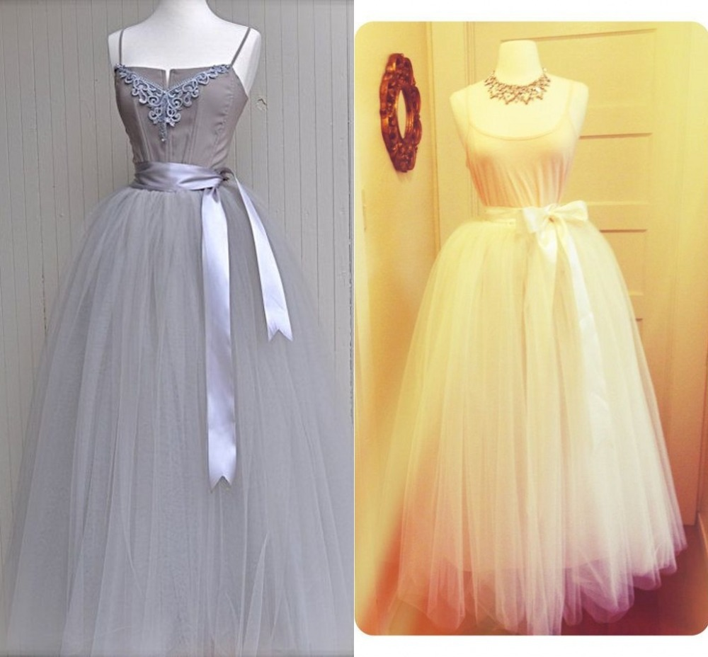 Aliexpress Buy Elegant High Waist Skirt With Ribbon Casual Solid Maxi Floor Length Fashion Sheer Long Tutu Multi Colour From Reliable