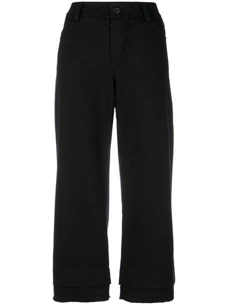 Lost & Found Rooms pants palazzo pants cropped women spandex cotton black