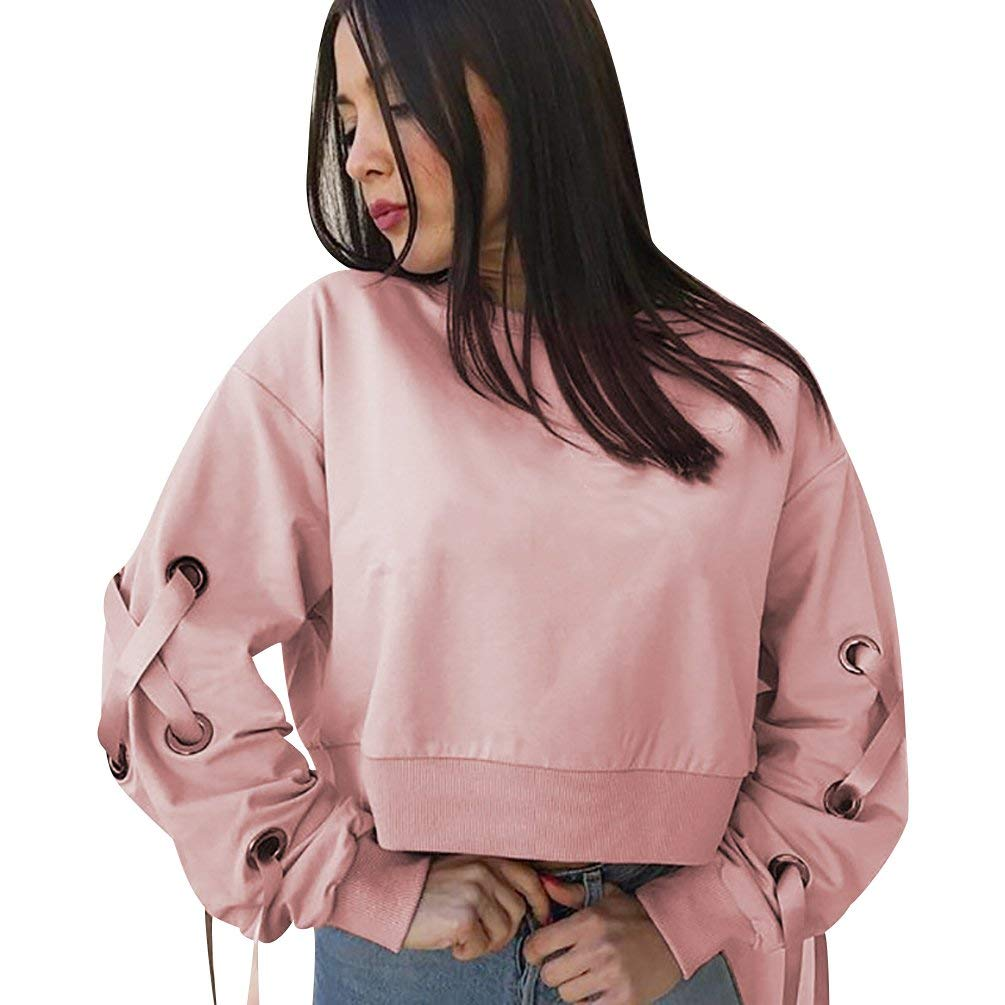 2d9c81ccd ISSHE Pullover Crop Sweatshirt Cropped Sweatshirts For Women Womens Crop  Tops Jumper Ladies Crop Top Jumpers ...