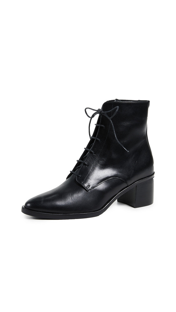 Freda Salvador The Ace Lace Up Booties in black
