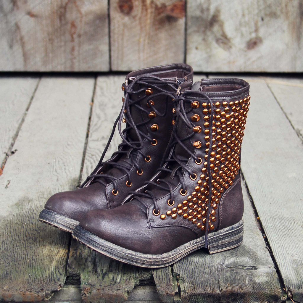 Whistler Studded Work Boots on Wanelo
