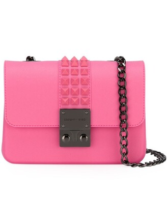 studded bag shoulder bag purple pink