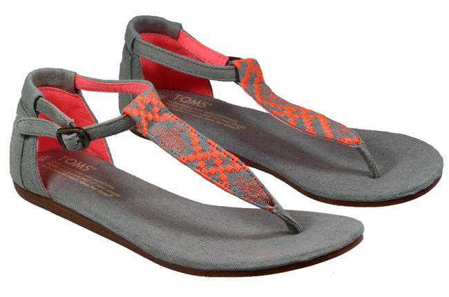 Toms shoes womens playa grey denim