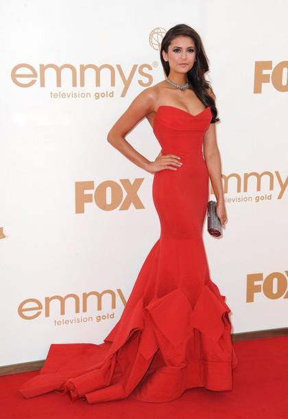 dress red long dress prom dress fashion