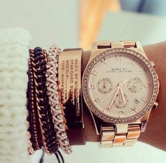 jewels watch marc by marc jacobs rose gold