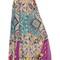 Printed silk georgette & lurex skirt