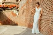 the mysterious girl,blogger,dress,shoes,wedding dress