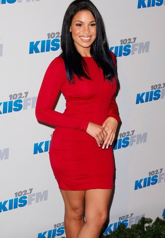 dress red dress jordin sparks bodycon dress