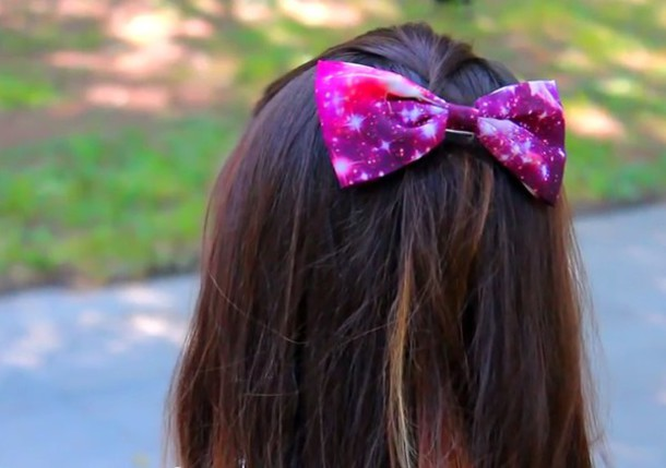 hair accessory hair galaxy bows stars alligator clip hair bow galaxy print