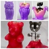 home accessory,candle,creepy,creepy kawaii,purple,owl,bear,skeleton,halloween decor,gummy bear,red