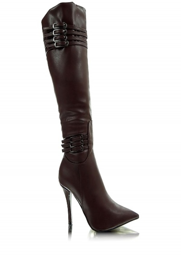 shoes boots high heels high heel booties cute high heels brown high heels with buckle buckle boots silver accents