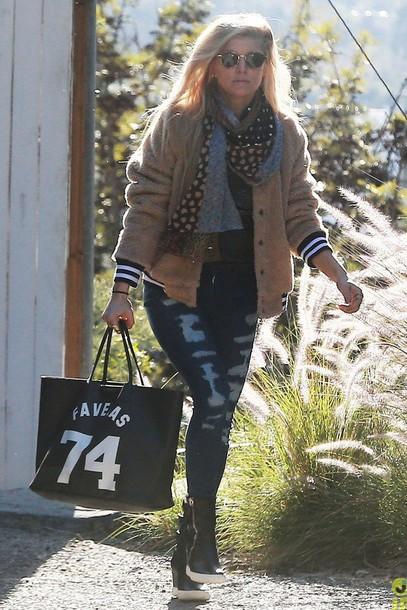 jeans jacket bag fergie
