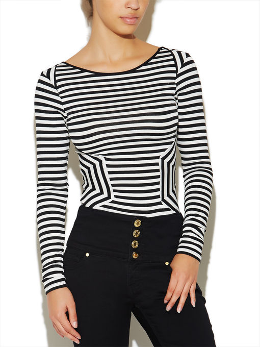 Long-Sleeve Striped Bodysuit | Arden B.