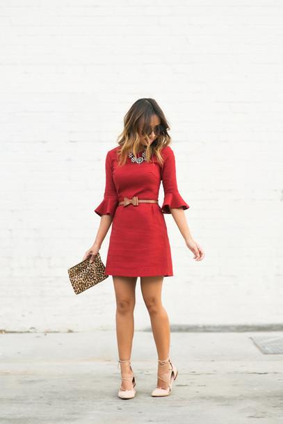 lace and locks, blogger, top, dress, sunglasses, belt ...