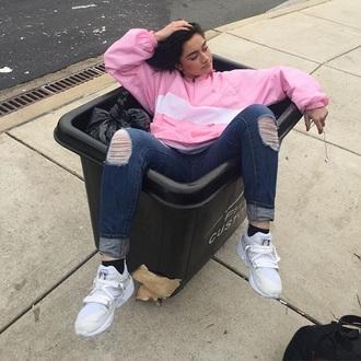 jacket hip hop pink 90s style