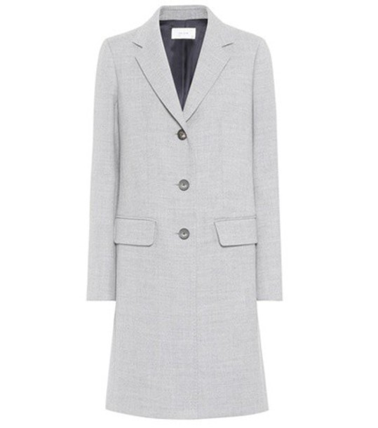 The Row coat wool coat wool grey