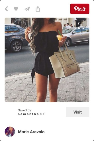 romper black summer outfits outfit strapless summer