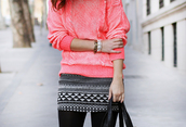 skirt,aztec,short skirt,sweater