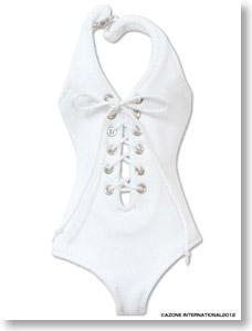 PNM Swimsuit (Lace-up One-piece) (White) (Fashion Doll) Azone International Pureneemo Original Costume