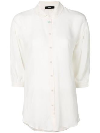 shirt collared shirt women lace white top