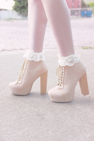lita jeffrey campbell lace lita platform boot cute socks litas