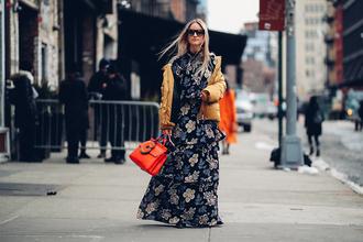 the fashion guitar blogger sunglasses jacket dress bag shoes