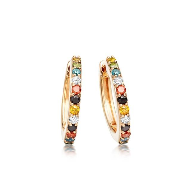 Astley Clarke Gold Medium Halo Mosaic Hoop Earrings - (One Size)