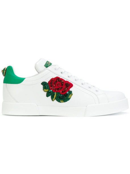 Dolce & Gabbana women sneakers leather white shoes