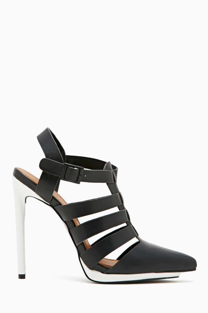 Shoe Cult Revelry Pump - Black/White in  Shoes Heels at Nasty Gal