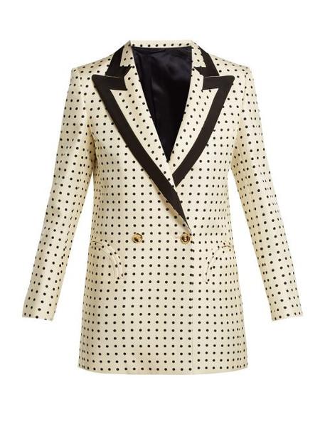 Blazé Milano - Oh La La Polka Dot Print Silk Blazer - Womens - Cream Multi