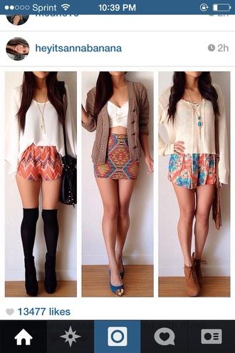 skirt print mini skirt tribal pattern tribal print skirt shorts blouse jacket sweater tank top