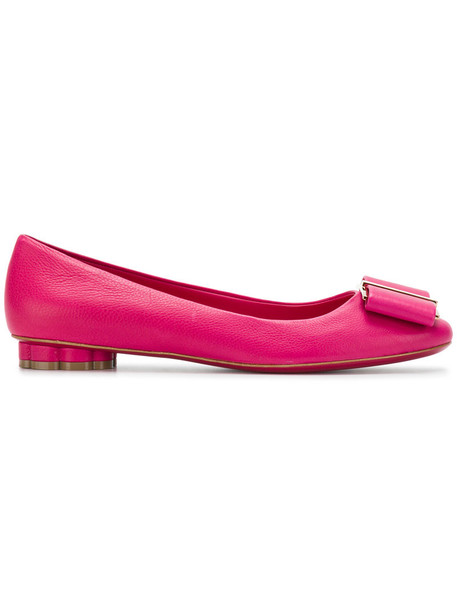 Salvatore Ferragamo bow women shoes leather purple pink