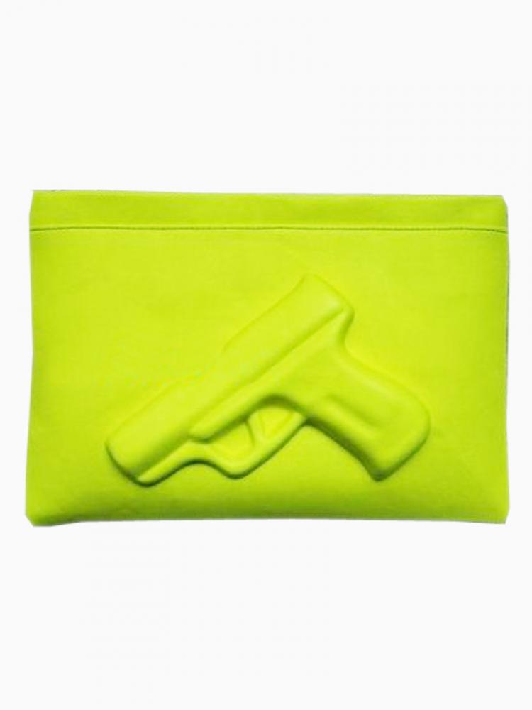 Yellow limited edition pistol clutches