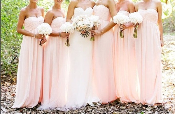 dress long prom dress pink bridesmaid dresses