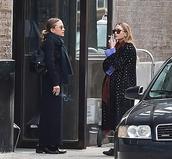 coat,mary kate olsen,fall outfits,olsen sisters,ashley olsen