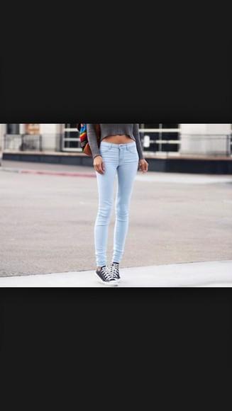 jeans style skinny skinny jeans skinny pants pants blue jeans colored jeans cute light blue light blue skinny jeans