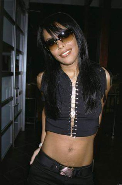 blouse safety pin top black top aaliyah haughton